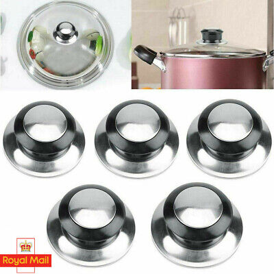 £3.59 • Buy UK 1/2/3x Replacement Lid Hand Grip Stainless Steel Pot Pan Cover Knob Handle