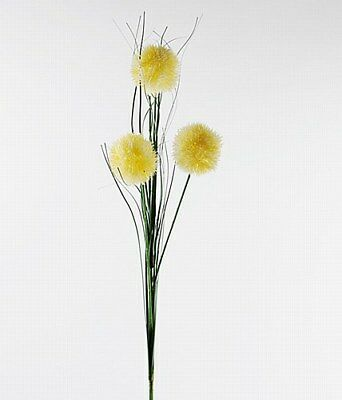 £7.99 • Buy Buy 2 Get 1 Free  Artificial Flower, Allium Cream And Onion Grass Spray Floral