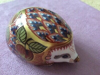 £40 • Buy Royal Crown Derby Collectors Guild Orchard Hedgehog Gold Stopper Paperweight.