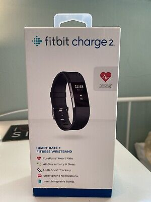 $ CDN51.14 • Buy Fitbit Charge 2 Heart Rate Fitness Activity Tracker, Wristband Size S/P- Black