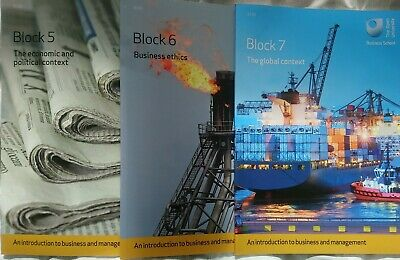 £14 • Buy Open University B100 Introduction To Business & Management Books Block 4  5 6  7
