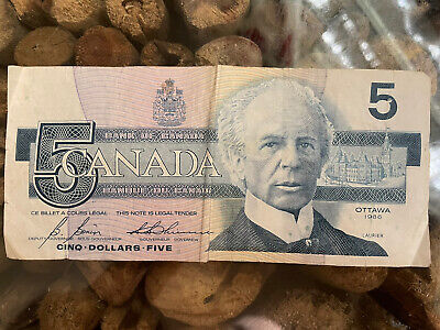 £0.01 • Buy 5 Canadian Dollars Banknote Series 1986 Birds Of Canada