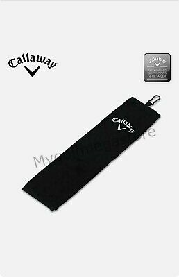 £6.50 • Buy Callaway 5413020 Golf Tri-Fold Towel - Black