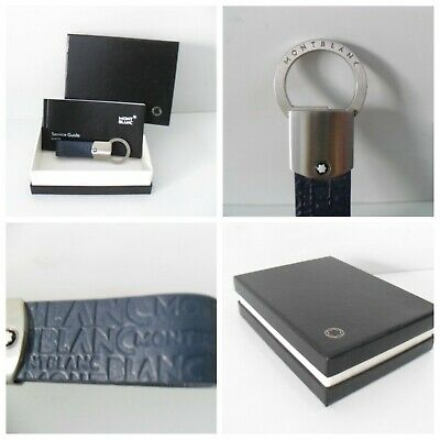 £94.74 • Buy Montblanc Keyring Blue Leather & Stainless Steel Authentic Montblanc - BRAND NEW