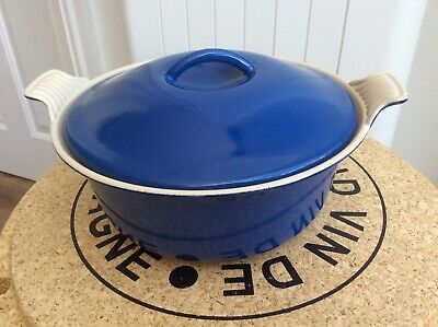 £25 • Buy Vintage Le Creuset Casserole Dish With Lid, 22cm Excellent Condition Pretty Blue