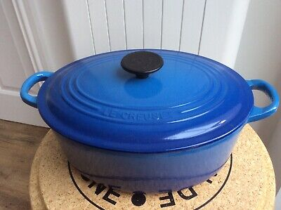 £45 • Buy Le Creuset Oval Cast Iron Casserole Dish Pretty Blue 27cm With Lid
