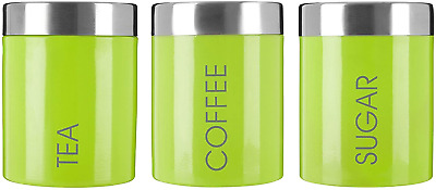 £18.31 • Buy Premier Housewares 507814 Liberty Tea Coffee And Sugar Canisters - Set Of 3, H13