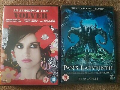 £5.99 • Buy 2 X DVDs Pan's Labyrinth & Volver Excellent Learn Spanish Language Resource