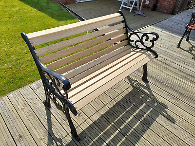 £118 • Buy 4' Cast And Oak Garden Bench LOVELY CONDITION