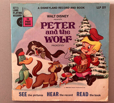 £15 • Buy Vintage Walt Disney's See Hear Read Peter And The Wolf 24Page Book & 33 1/3 LPR
