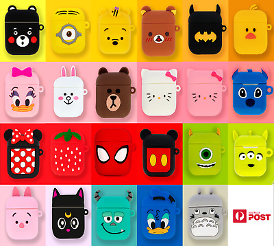 AU7.25 • Buy NEW DESIGN - Airpods Case Silicone Cute Character Collection (Airpods 1 & 2)