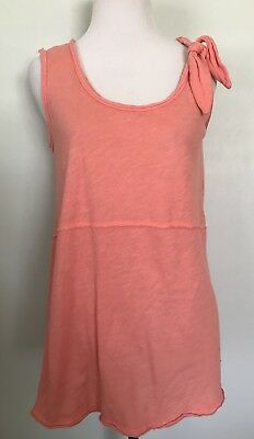 $ CDN3.02 • Buy Anthropologie Pure + Good Top XS Fits S M Tie-Shoulder Coral Pink Sleeveless