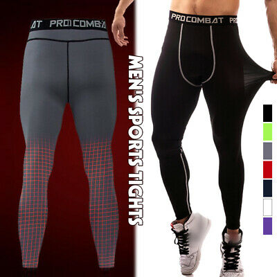 $12.95 • Buy Breathable Stretch Men'sTraining Fitness Sports Running Gym Tights Long Pants