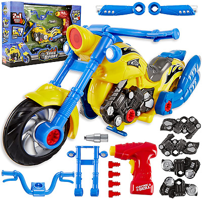 £15.37 • Buy HERSITY Build Your Own Car Kit For Kids With Electric Drill Lights And Sounds 3