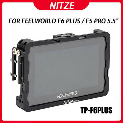 AU68.95 • Buy Nitze Monitor Cage With HDMI Cable Clamp For Feelworld F6 Plus 5.5  Inch Monitor