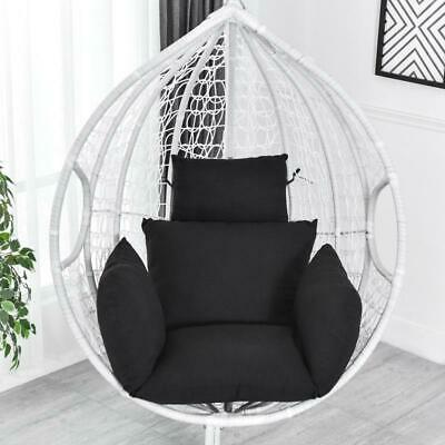 £35.81 • Buy Black Swing Hanging Egg Rattan Chair Hammock Stand Cushions Not Include Chair