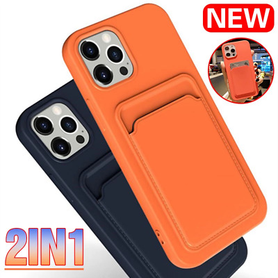 AU5.80 • Buy Phone Case For IPhone 12 Pro Max 11 XS XR 7 8 Plus Card Slot Soft Silicone Cover