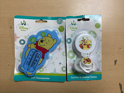 £5 • Buy Disney Baby Bath Thermometer & Soother/ Soother Winnie The Pooh 3+ Months New
