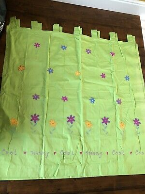 £8.50 • Buy Curtains Pair Of Next Childrens Curtains, Lime Green With Flowers And Tab Tops.