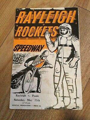 £0.99 • Buy RAYLEIGH V POOLE SPEEDWAY PROGRAMME - 11 MAY 1963 RACE CARD COMPLETE