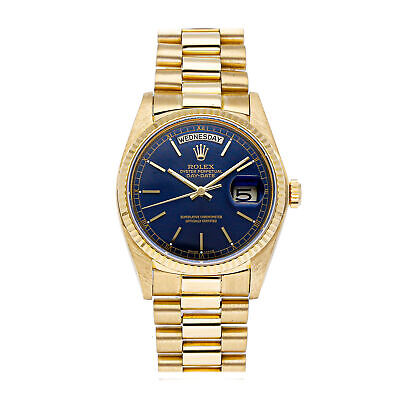 £9902.04 • Buy Rolex Day-Date Auto 36mm Yellow Gold Mens President Bracelet Watch 18038