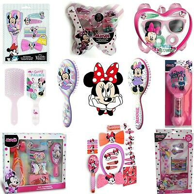 AU16.59 • Buy Kids Girls Xmas Gift Minnie Mouse Hair Accessories,Bobbles,Bows,Headband,Brushes