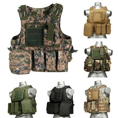 $24.66 • Buy Military Tactical Vest Gear SWAT Airsoft Molle Combat Assault Plate Carrier US