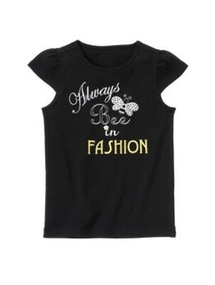 $12 • Buy New Gymboree Bee Chic  Always Bee In Fashion  Black Top Shirt Sizes 4 5