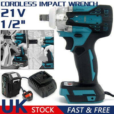 £24.52 • Buy 1/2  Cordless Impact Wrench Brushless Driver Torque Replace W/Charger Battery UK