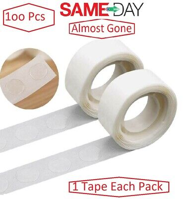 £1.99 • Buy 100 Adhesive Dots Tape Double Sided Glue Sticky Sticker DIY Balloon Clear Decor