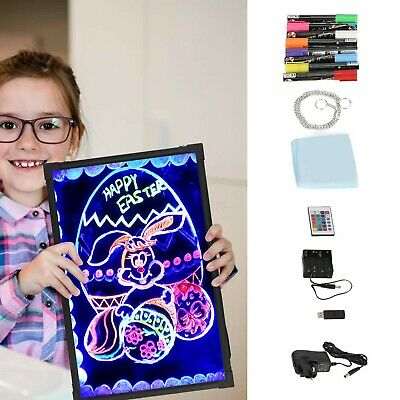 £20.59 • Buy 60*40CM Sensory LED Light Up Drawing Writing Board Special Needs Toy Autism
