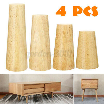 £12.50 • Buy 4x Wooden Furniture Square Tapered 12/15cm Feet Legs For Bed Stools Sofa Chair