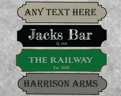 £11.99 • Buy Personalised Bar Sign Custom Text, 4 Designs, Pub Signage Indoor Outdoor
