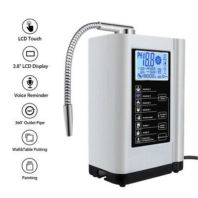 £245.99 • Buy Alkaline Water Ionizer Purifier Device Filter Touch LCD PH3.5-10.5 Washer Tools