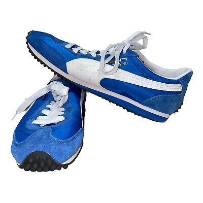 AU64.39 • Buy Puma Whirlwind Classic Retro Blue & White Suede Running Sneakers Shoes Size 10
