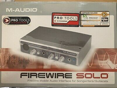 $109 • Buy M Audio Firewire Solo Audio Interface For Songwriters/Guitarists