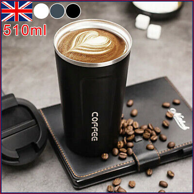 £7.89 • Buy Insulated Coffee Mug Cup Travel Thermal Stainless Steel Flask Vacuum Leakproof