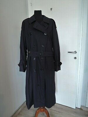 $247.63 • Buy Vintage Burberry Burberrys England Navy Blue Trench Coat Trenchcoat Size 50