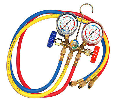 £27.99 • Buy Air Conditioning Re Gas A/C Manifold Gauge Set Universal Refrigeration Charging
