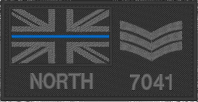 £7.99 • Buy Sergeant Chevrons,  POLICE PATCH, NAME RANK PATCH, EMBROIDERED PATCH,