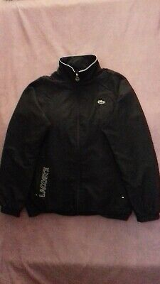 £29.99 • Buy Men's Lacoste Zip Up Tracksuit Top Black Size 4 / Small