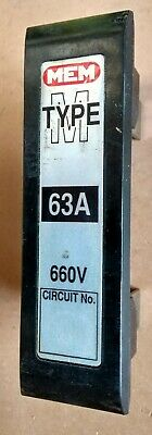 £16.50 • Buy MEM Type M 63A Fuse & Carrier. Includes BS88.2 Cartridge Fuse ( 6A To 63A ) 660V