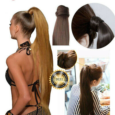 £7.49 • Buy Hair Clip Ponytail Pony Tail Real As Human Claw Extension Natural Luxury