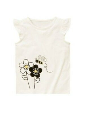 $12 • Buy New Gymboree Girl's Bee Chic Off White Top Shirt Size 6
