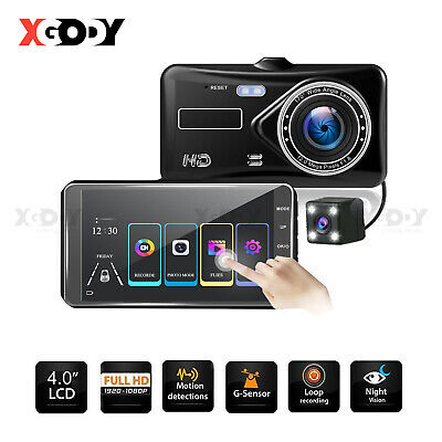 AU46.99 • Buy Front And Rear Car Dash Camera Dual Camera Dash Cam Video DVR Recorder FHD Touch
