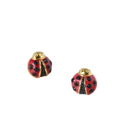 $ CDN33.98 • Buy Kate Spade Ladybug Earrings Perfection & Joy Faceted Glass Gem Accents Posts