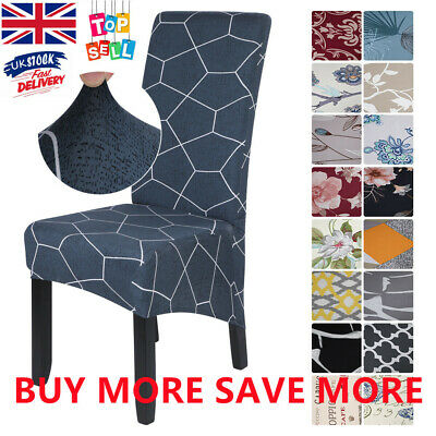 £4.99 • Buy Dining Chair Covers Stretch High Back Seat Cover Decoration Protective Slipcover