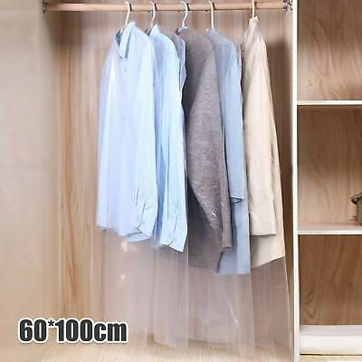 £9.99 • Buy SET OF 50 Clear Polythene Garment Covers Clothes Suit Dress Dry Cleaner Bags 40