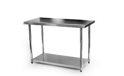 £139 • Buy Stainless Steel Commercial Catering Table Work Bench Kitchen 1200mm X 600mm