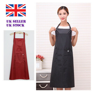 £6.59 • Buy Adult Wipe Clean Waterproof Oxford Cloth Apron Chefs Kitchen Extra Long Plain UK